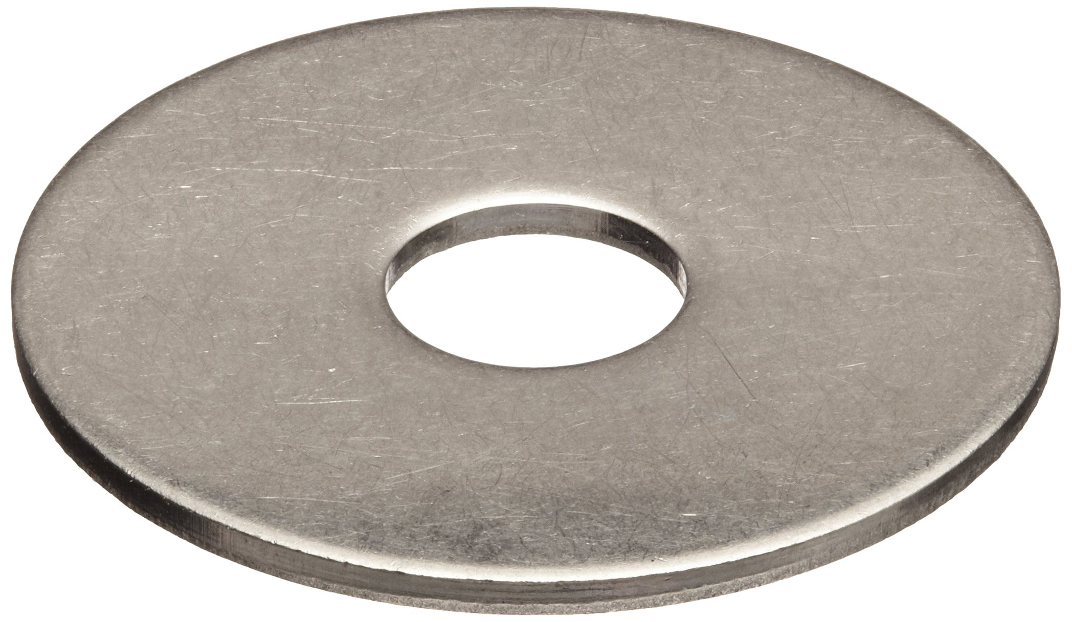 316 Stainless Steel Flat Washer, 1/4'' Hole Size, 0.281'' ID, 1'' OD, 0.05'' Nominal Thickness, Made in US (Pack of 25)