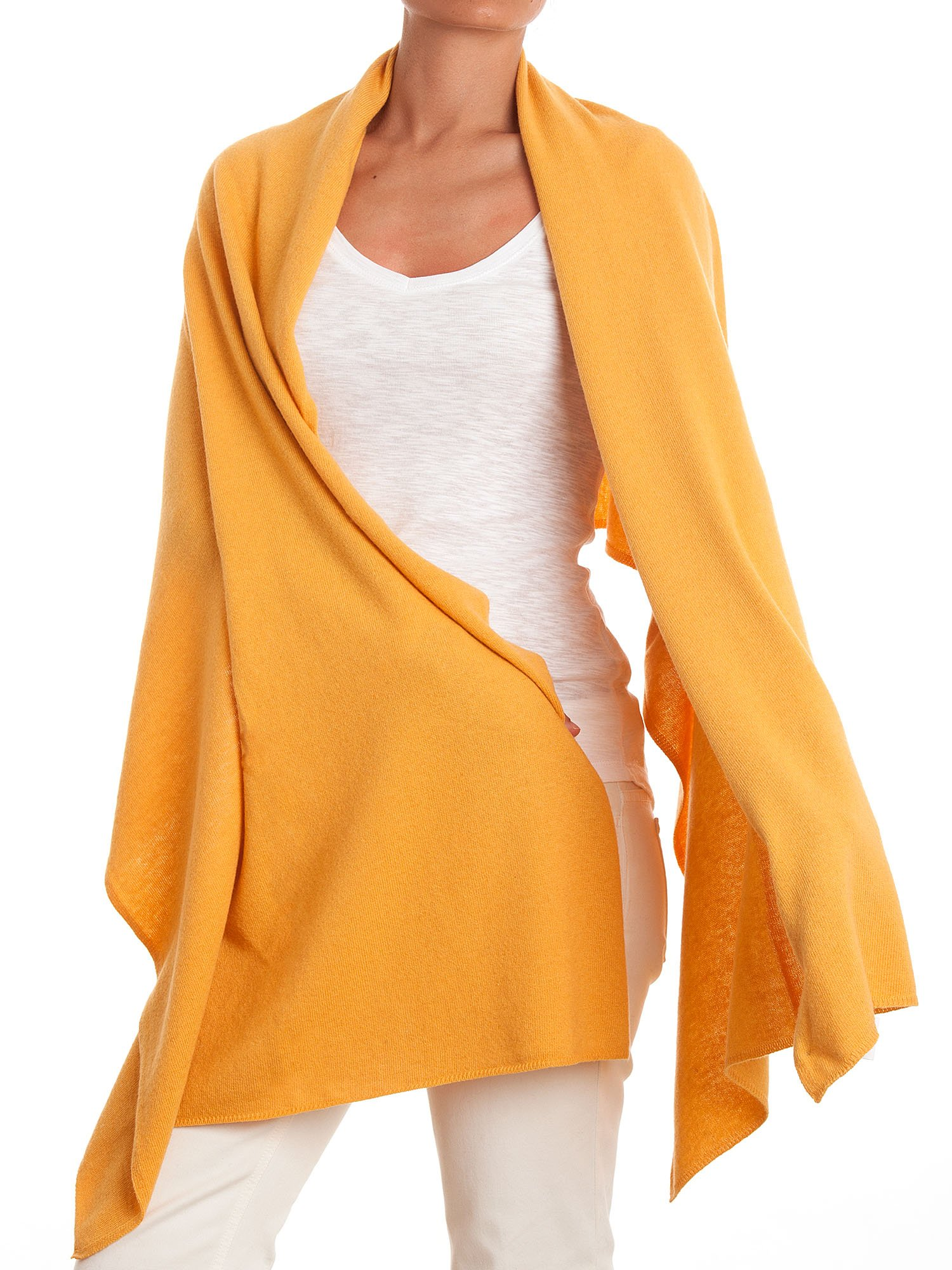 Dalle Piane Cashmere - Stole cashmere blend - Made in Italy, Color: Yellow, One Size