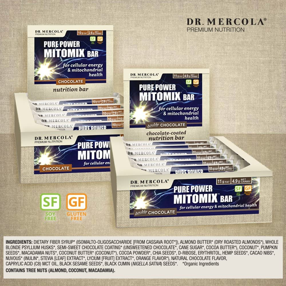 Amazon.com: Dr. Mercola Pure Power Mitomix Bars – (12 ...
