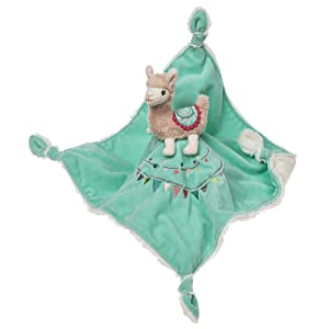 """Mary Meyer Baby Lily Llama Character Blanket 13""""x13"""""""