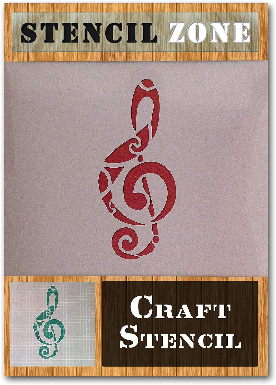 M/úsica Nota musical de sonido Mylar aer/ógrafo Pintura Mural Art Crafts de la plantilla 2-XL