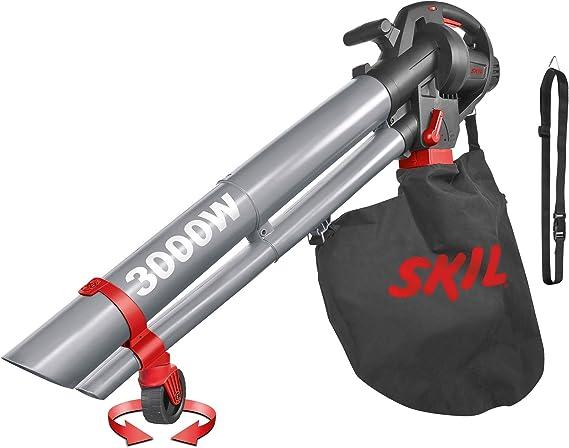 Skil 0796AA - Soplador, aspirador y triturador de hojas con rueda pivotante y variador de velocidad (3000 W, bolsa de recogida, Easy Storage): Amazon.es: Bricolaje y herramientas