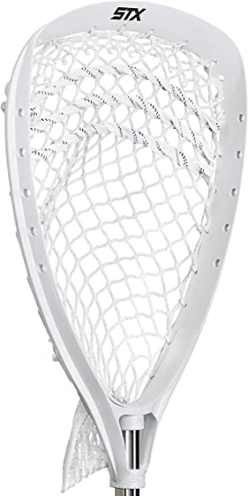 STX Lacrosse Shield 100 Goalie Strung Head, White - Best For Design