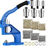 3 Die Hand Press Grommet Machine Grommets Eyelet Tool Kit with Handle Cover 2400 Pieces Grommets for Grommets Snap Buttons Ri