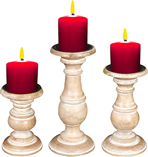 Candle Stands Wooden For Pillar Candles,Rounded turned Colum