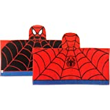 Marvel Spiderman Super Soft & Absorbent Kids Bath/Pool/Beach Hooded Towel, Featuring Spiderman - Fade Resistant Cotton Terry Towel, Measures 28 inch x 58 inch (Official Marvel Product)