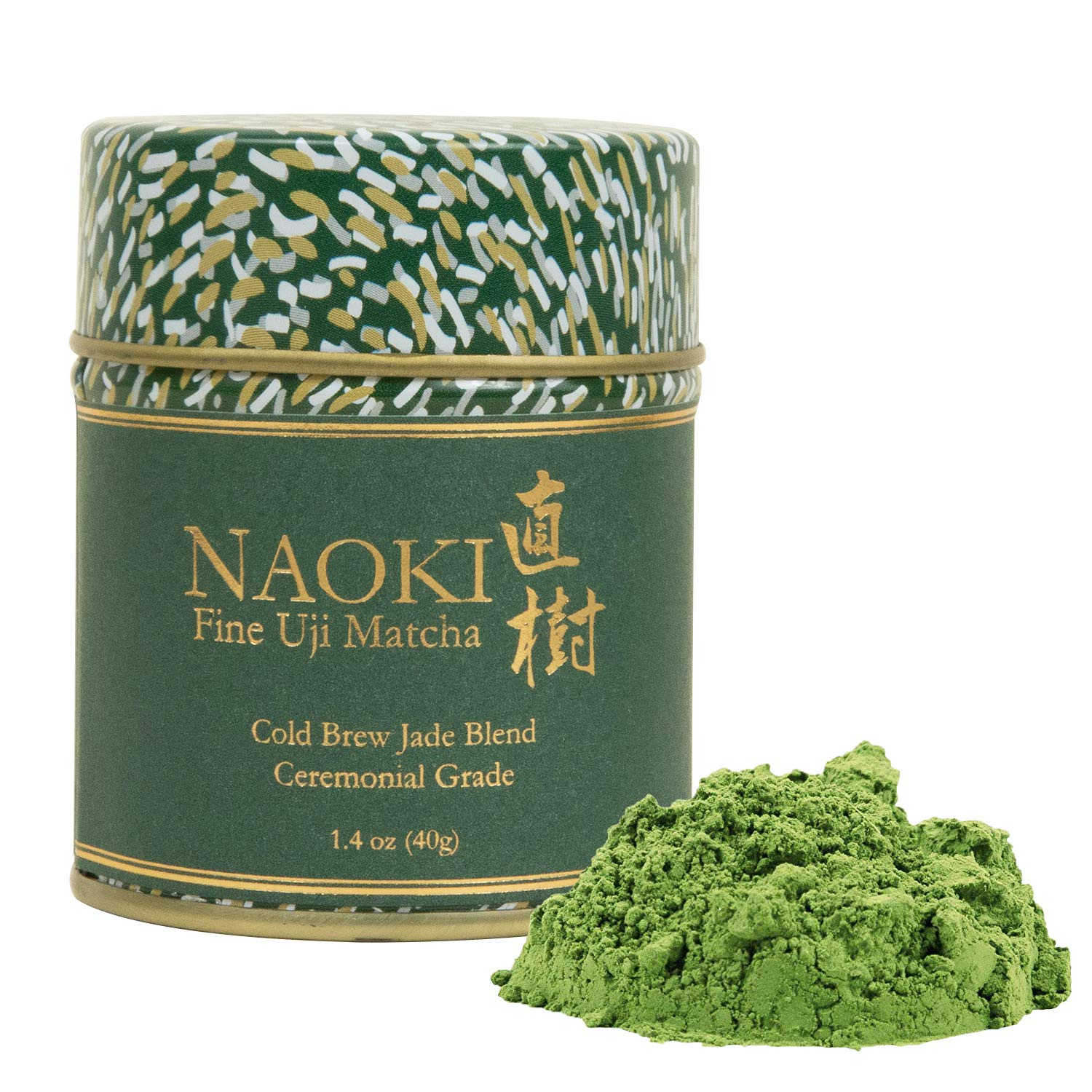 Naoki Matcha (Cold Brew Jade Blend, 40g / 1.4oz) Authentic Japanese Matcha Green Tea Powder Ceremonial Grade from Wazuka, Uji Kyoto, Japan