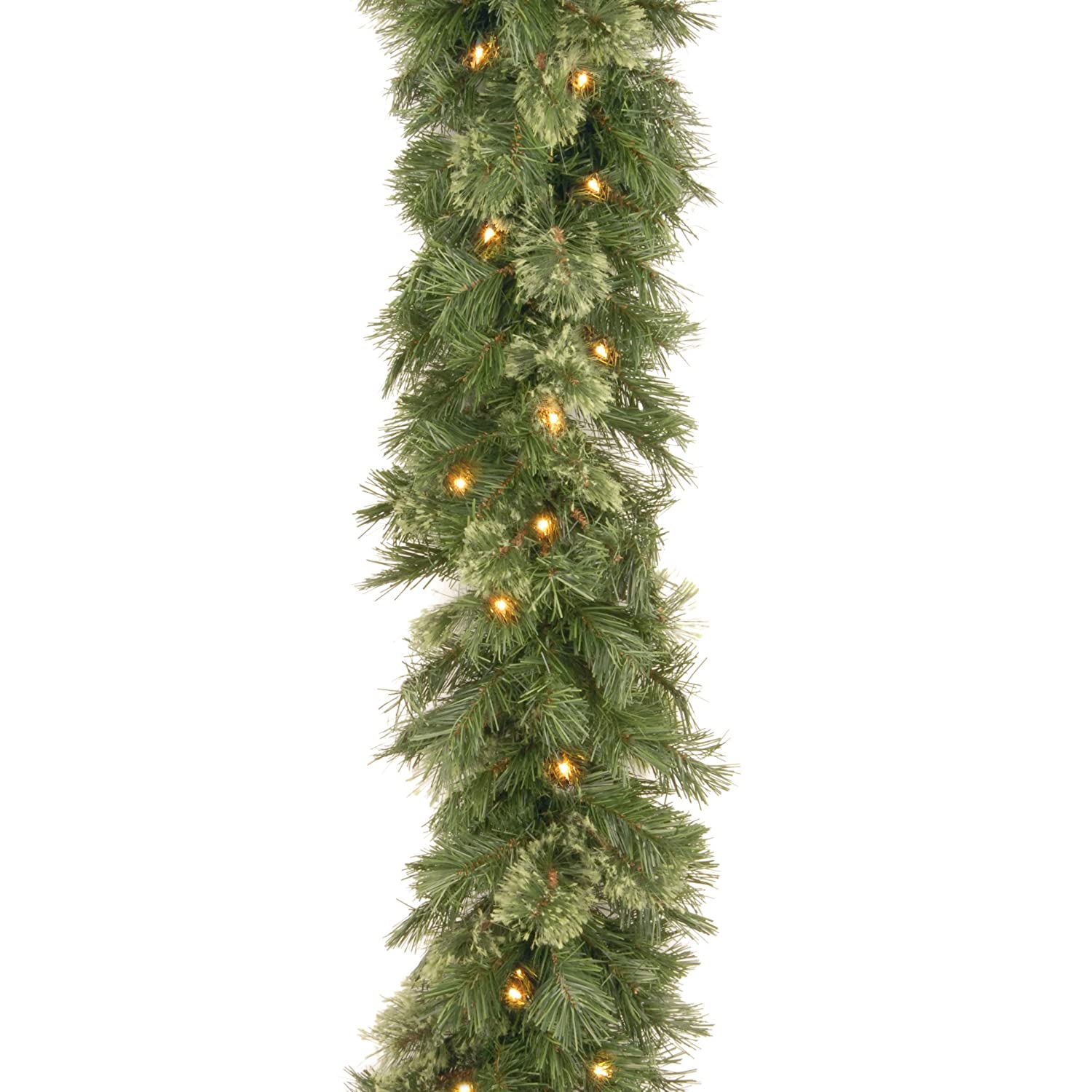National Tree 9 Foot by 10 Inch Wispy Willow Garland with 50 Clear Lights WO1-9ALO-1