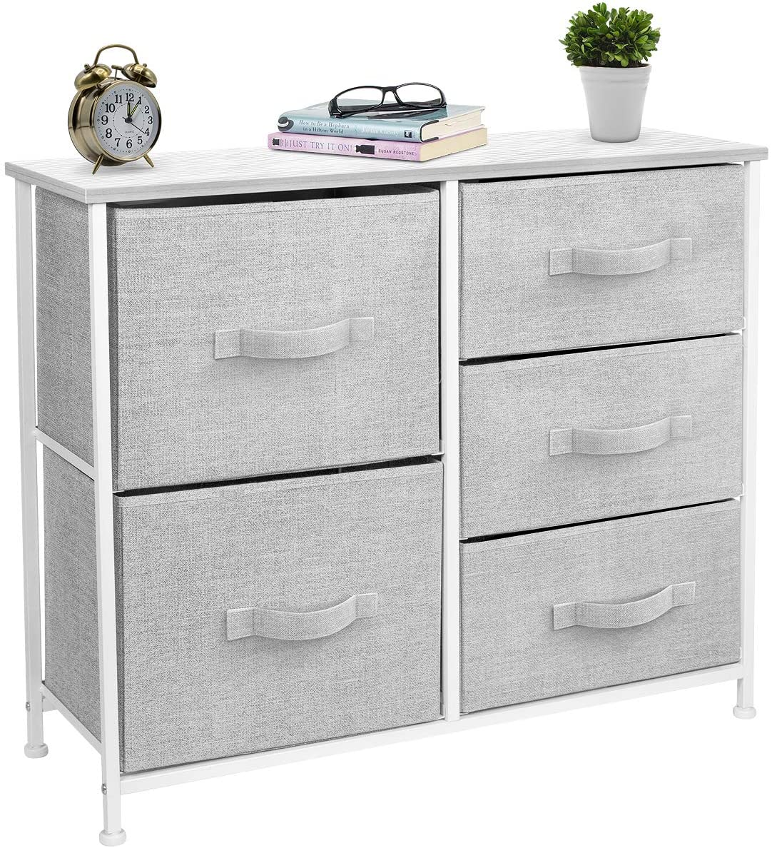 Sorbus Dresser with 3 Drawers - Furniture Storage Tower Unit for