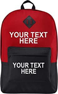 """Personalized Custom School Backpack Girls Boys - Add Your Name (15"""" Laptops)"""