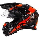 O'Neal Sierra Adventure Helm Edge Schwarz Orange Motocross Offroad Enduro MX, 0815-2
