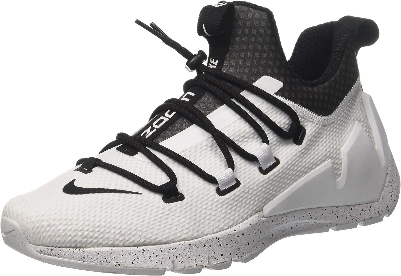 dramático Reactor Punto de referencia  Amazon.com | Nike Air Zoom Grade Mens 924465-100 Size 10 White/Black-White  | Basketball