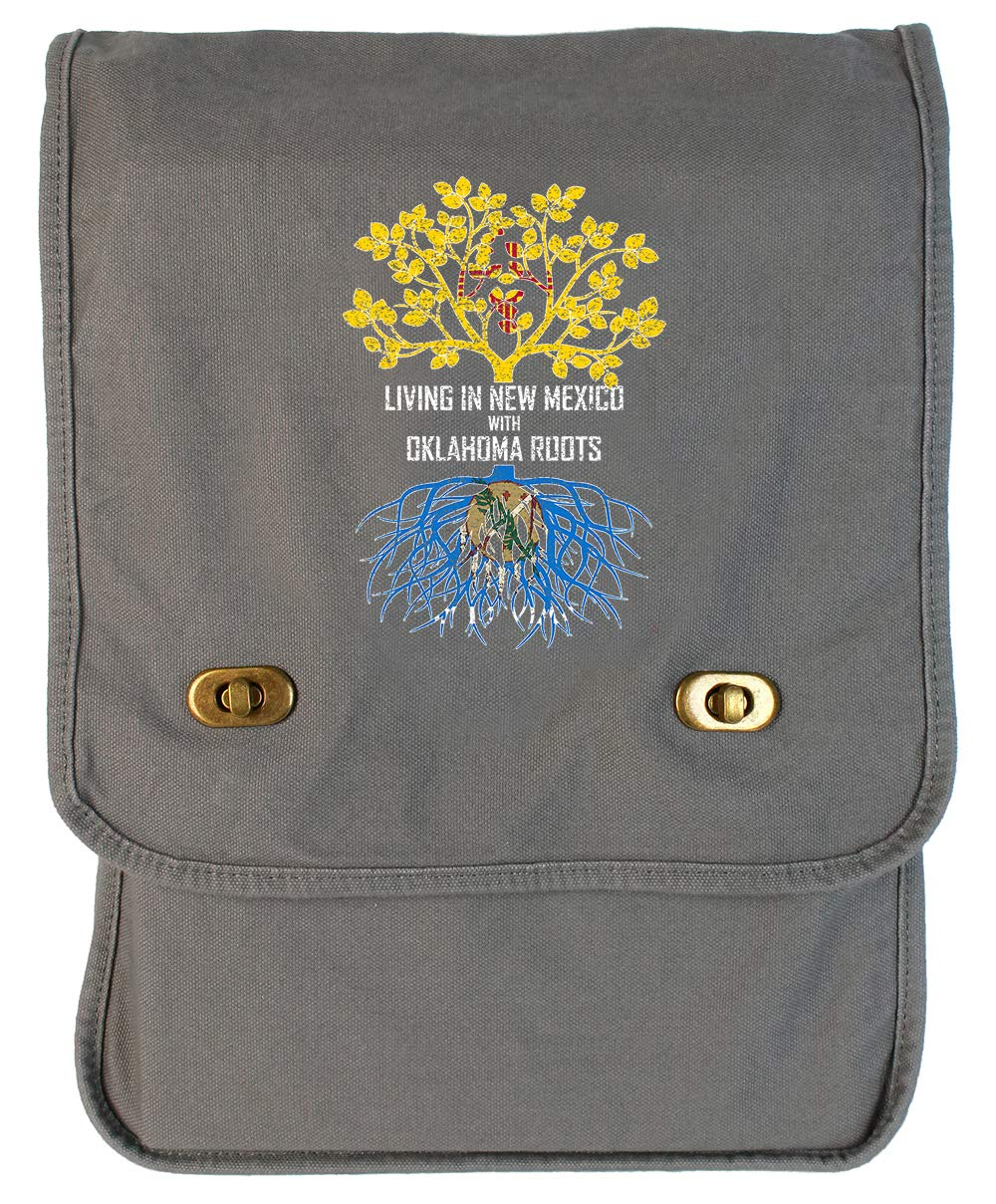 Tenacitee Living In New Mexico with Oklahoma Roots Grey Brushed Canvas Messenger Bag