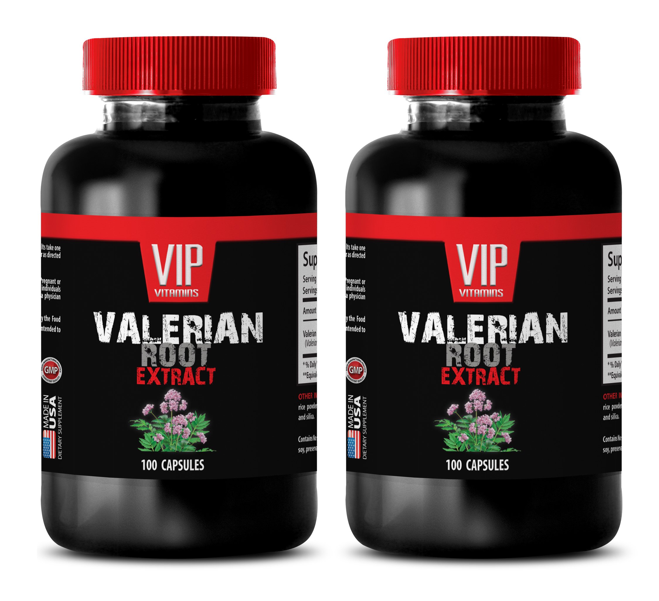 blood pressure natural supplements - VALERIAN ROOT EXTRACT 125MG - valerian natures answer - 2 Bottles (200 Capsules)