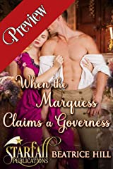 When the Marquess Claims a Governess: A Regency Historical Romance Novel Kindle Edition