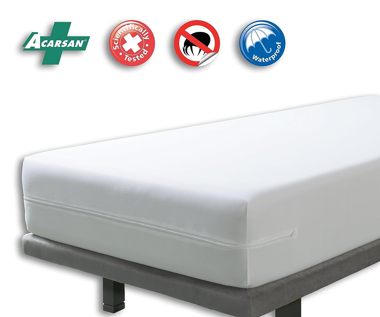 Velfont - - Funda de colchón (Impermeable, antiácaros y Transpirable - Disponible en Diferentes tamaños, 90x190/200cm: Amazon.es: Hogar