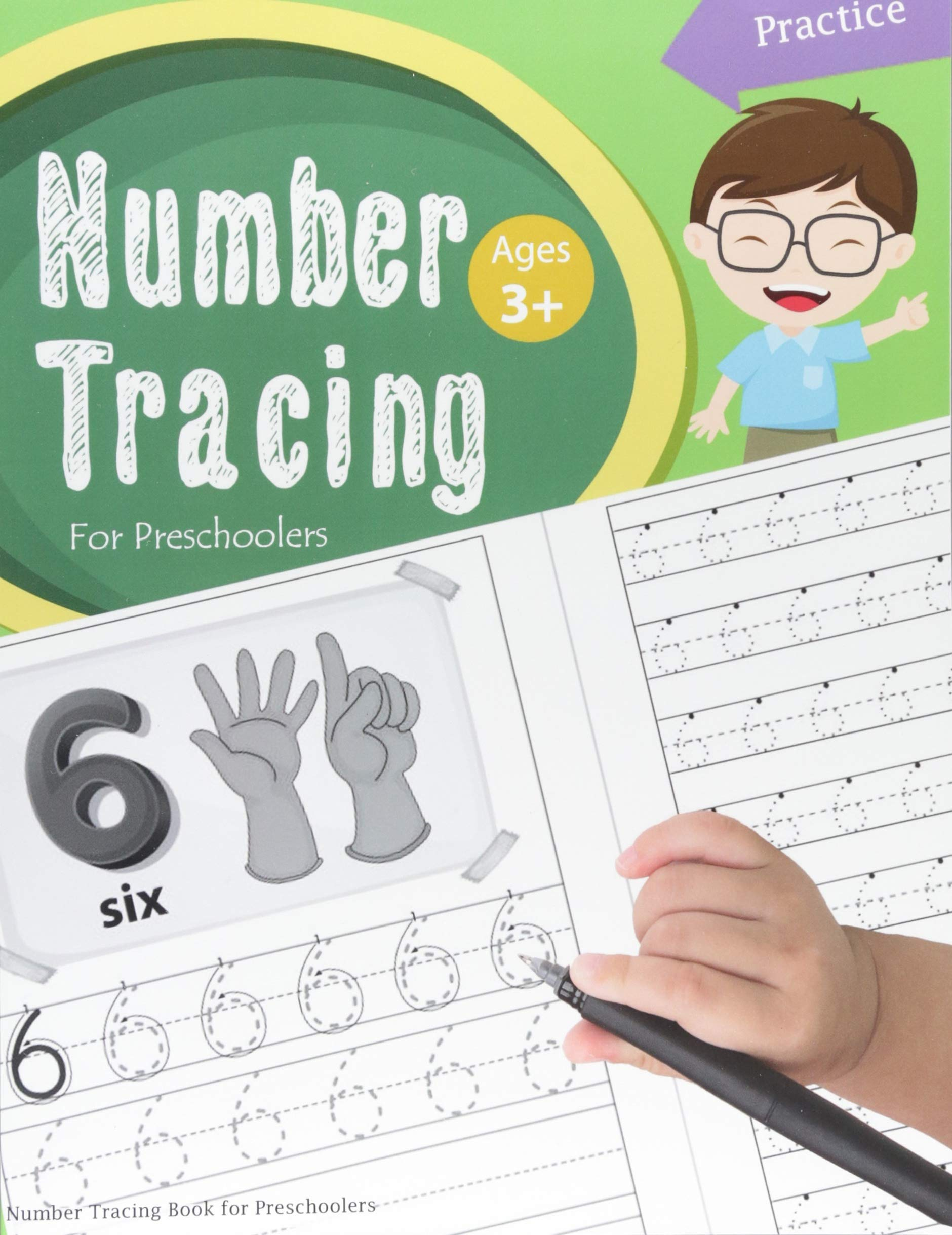 Number Tracing Book Preschoolers workbook product image