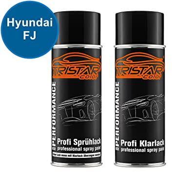 TristarColor Auto Spray Paint Cans Set for Hyundai FJ Electric Blue