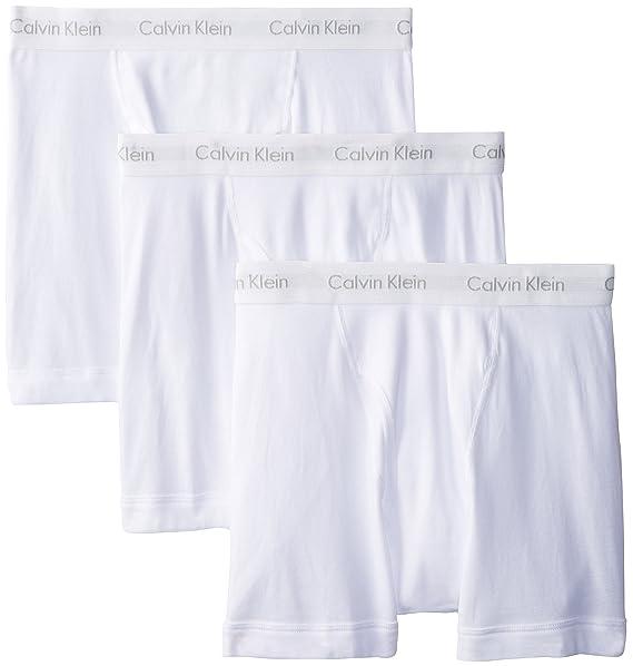 Calvin Klein Ropa Interior para Hombre algodón Multipack Boxer Slip Blanco Blanco Small