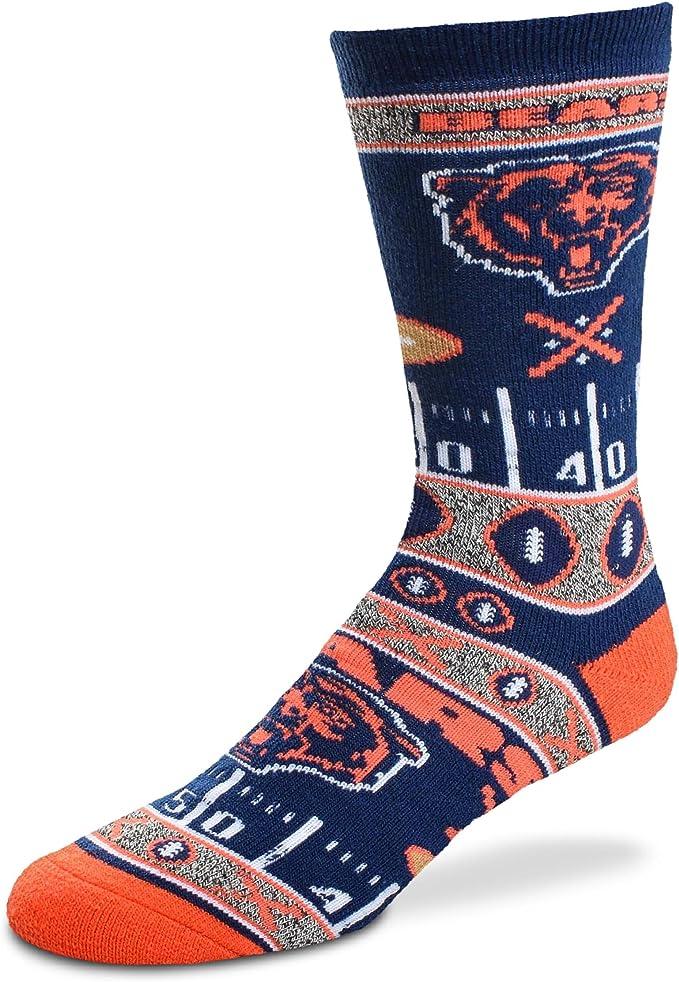 10-13 Kansas City Chiefs, Large Official NFL Mens Flag Promo Crew Socks For Bare Feet