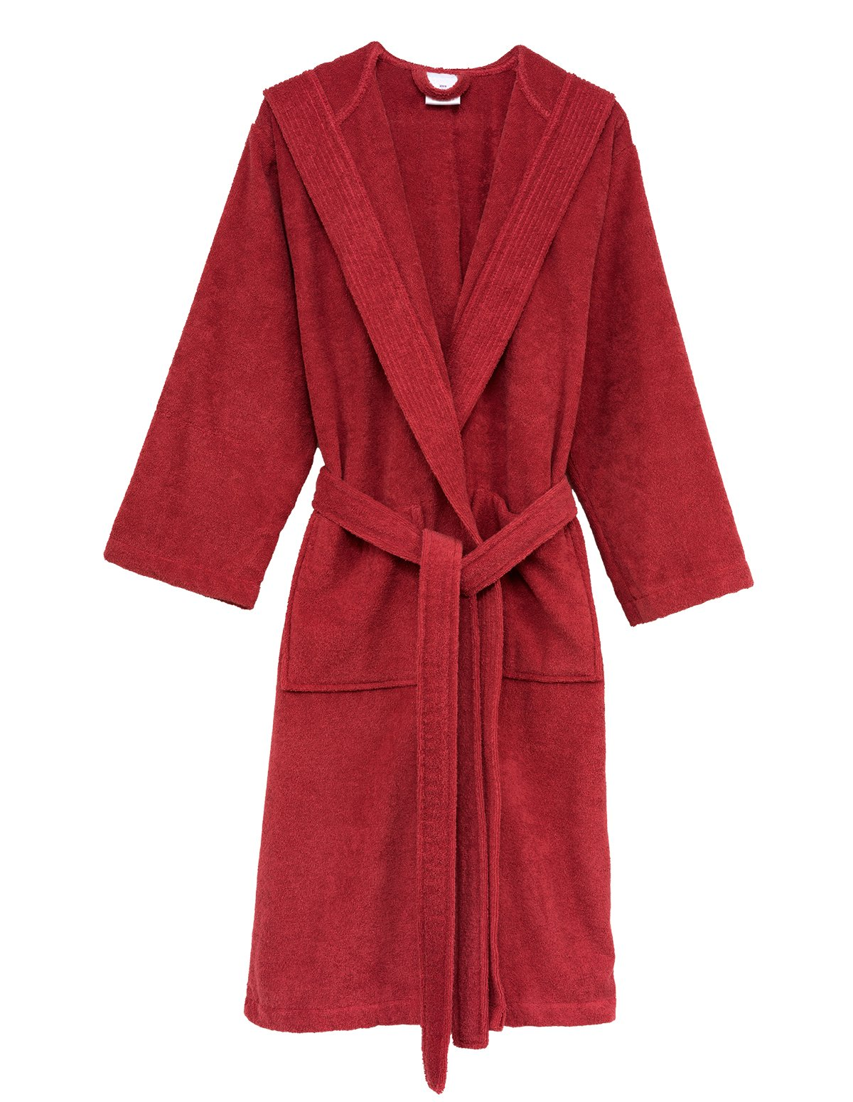 0d8578c945 Galleon - TowelSelections Women s Robe Turkish Cotton Hooded Terry Bathrobe  Medium Large Cranberry