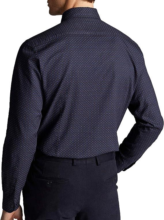 Massimo Dutti Men 0124/140/401 - Camisa de sarga de ...