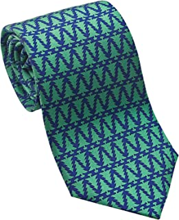 product image for Josh Bach Men's Christmas Trees Silk Necktie Green, Made in USA