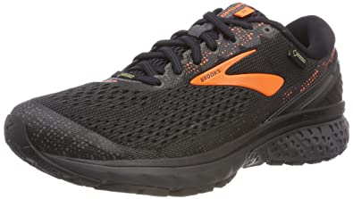 Brooks Men s Ghost 11 GTX Black Orange Ebony 8 ... 1693645f9