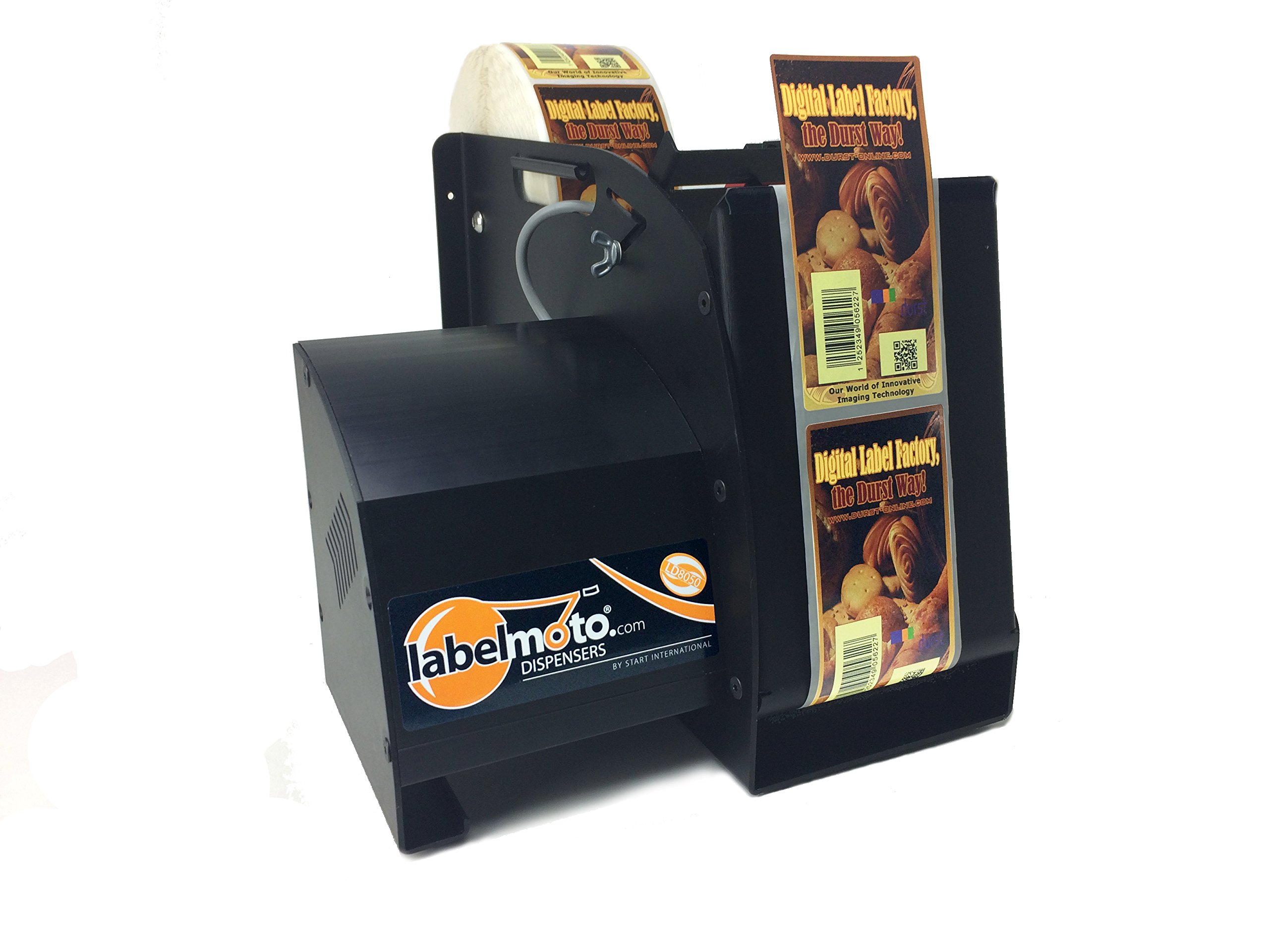 START International LD8050 High-Speed Electric Label Dispenser for Up to 5'' Wide and 12'' Long Labels, Black