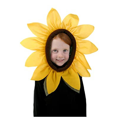 Fun Costumes Sunflower Hood Yellow Flower Headpiece Accessory: Toys & Games
