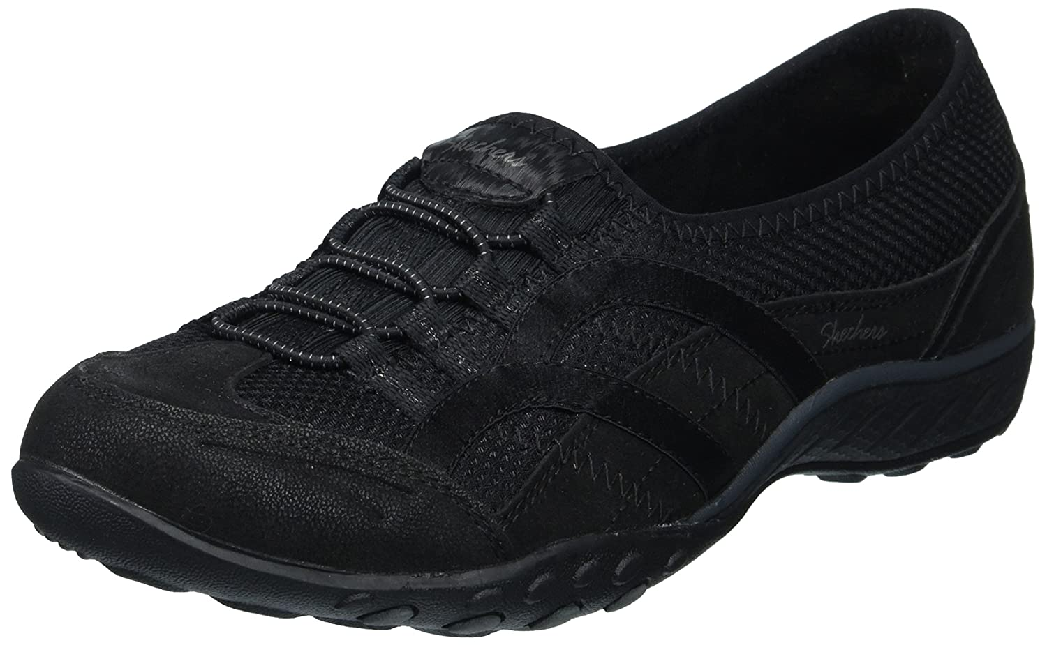 Skechers Women's Breathe Easy Well Versed Sneaker B074875TLM 8.5 B(M) US|Black