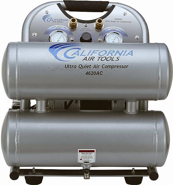 California Air Tools CAT-4620AC-22060 Ultra Quiet & Oil-Free 2.0 hp 4.0 gallon Aluminum Twin Tank Electric Portable Air Compressor, Silver - - Amazon.com