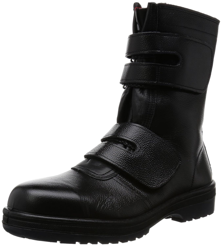 [ドンケル] 安全靴 マジック式 ラバー2層底 耐滑 耐延焼 JIS T8101革製S種EF合格 R2-54 B00CW6QE5U 25.5 cm|ブラック ブラック 25.5 cm