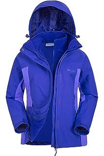 Mountain Warehouse Storm 3 en 1 para mujer chaqueta impermeable - bolsillos múltiples, chaqueta desmontable