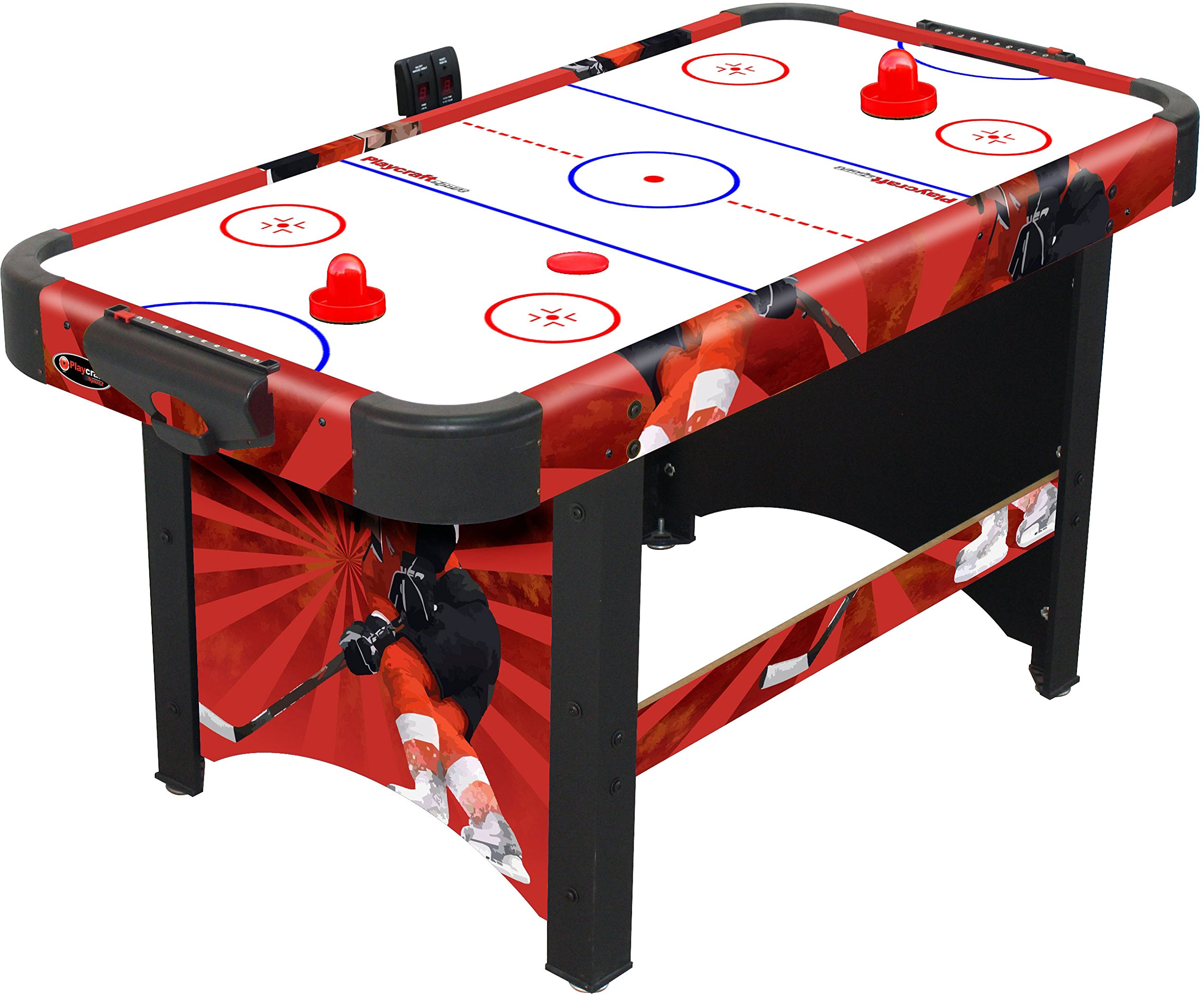 Playcraft Sport Shoot Out Plus Air Hockey Table, Red by Playcraft Sport