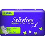 Stayfree Dry-Max All Night Ultra-Thin with Wings - X- Large (14 Pads)