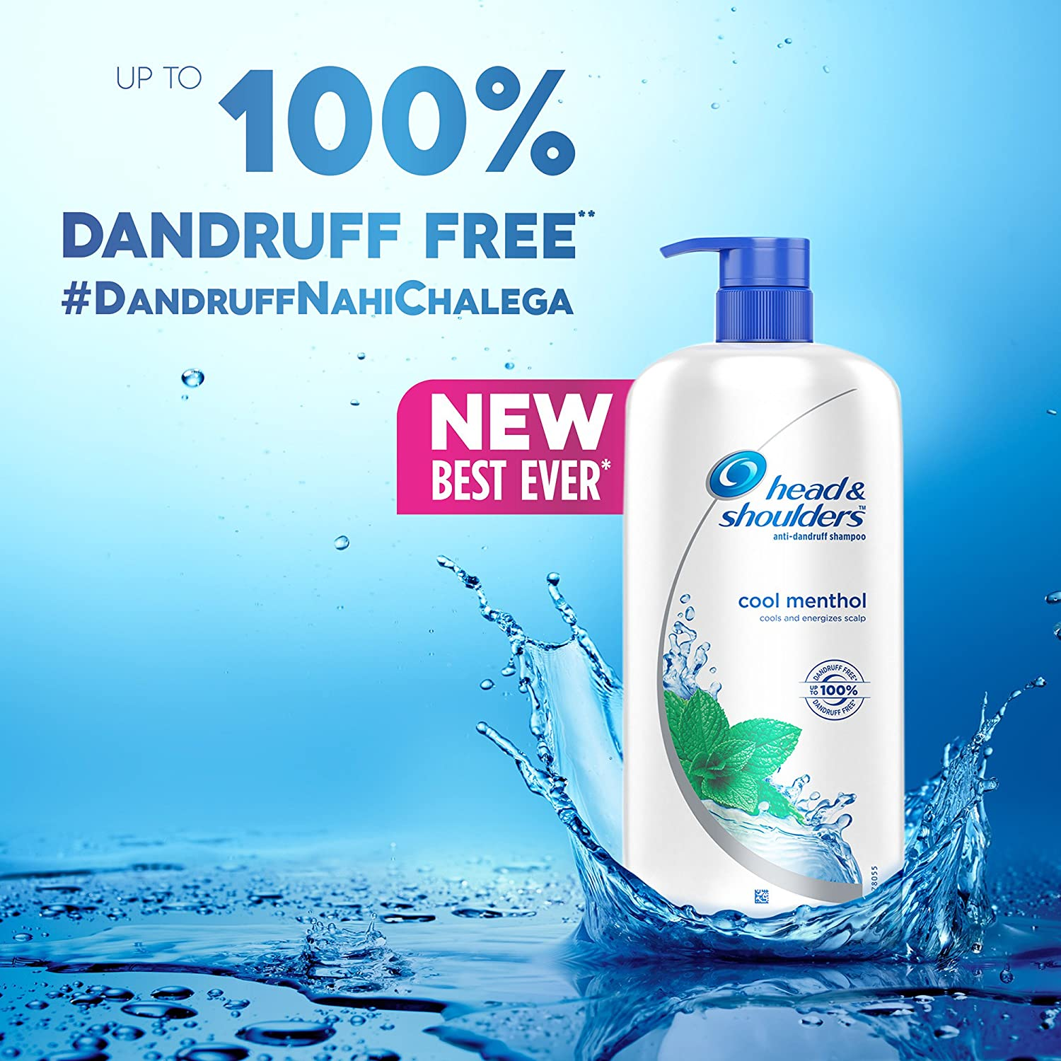 Head & Shoulders Anti-Dandruff Shampoo (Cool Menthol and Energizes Scalp) - 1L