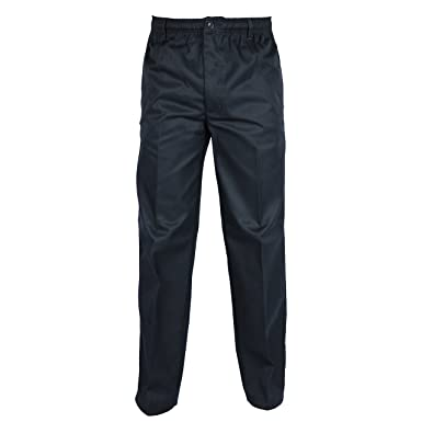 MENS NEW SMART ELASTICATED WAIST CASUAL WORKING RUGBY TROUSERS PENTS SIZE 34-42