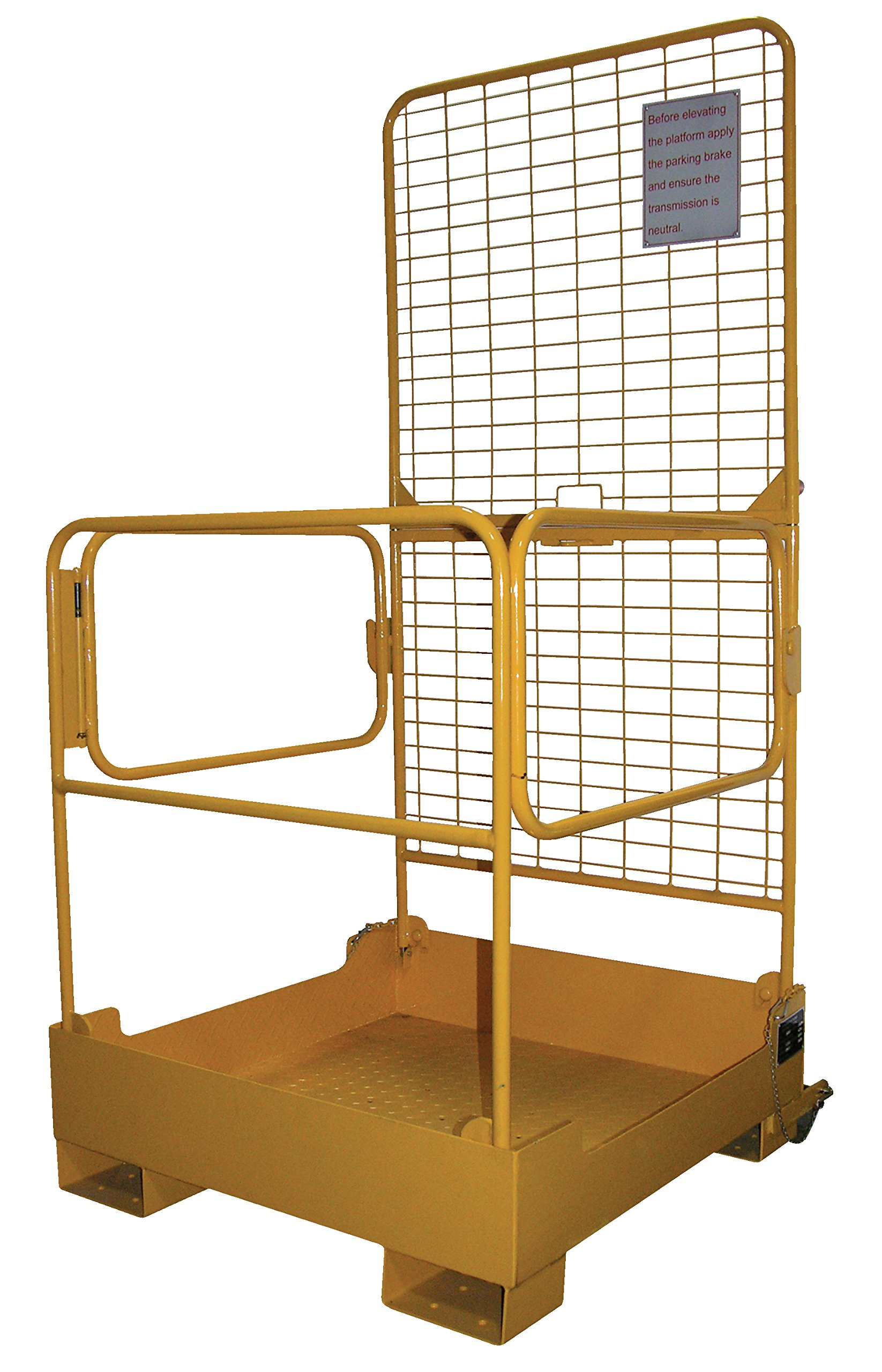 Vestil WP-3737-FD Fold-Down Work Platform, 600 lb Capacity, 37'' x 37'', Powder Coat Yellow, not for use in California