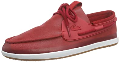 368b361c9247e Lacoste Men s L.Andsailing 116 2 CAM Low-Top Sneakers Red Size  8.5 ...