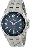 Bulova Men's 98B111 Marine Star Stainless Steel Bracelet Blue Dial Watch