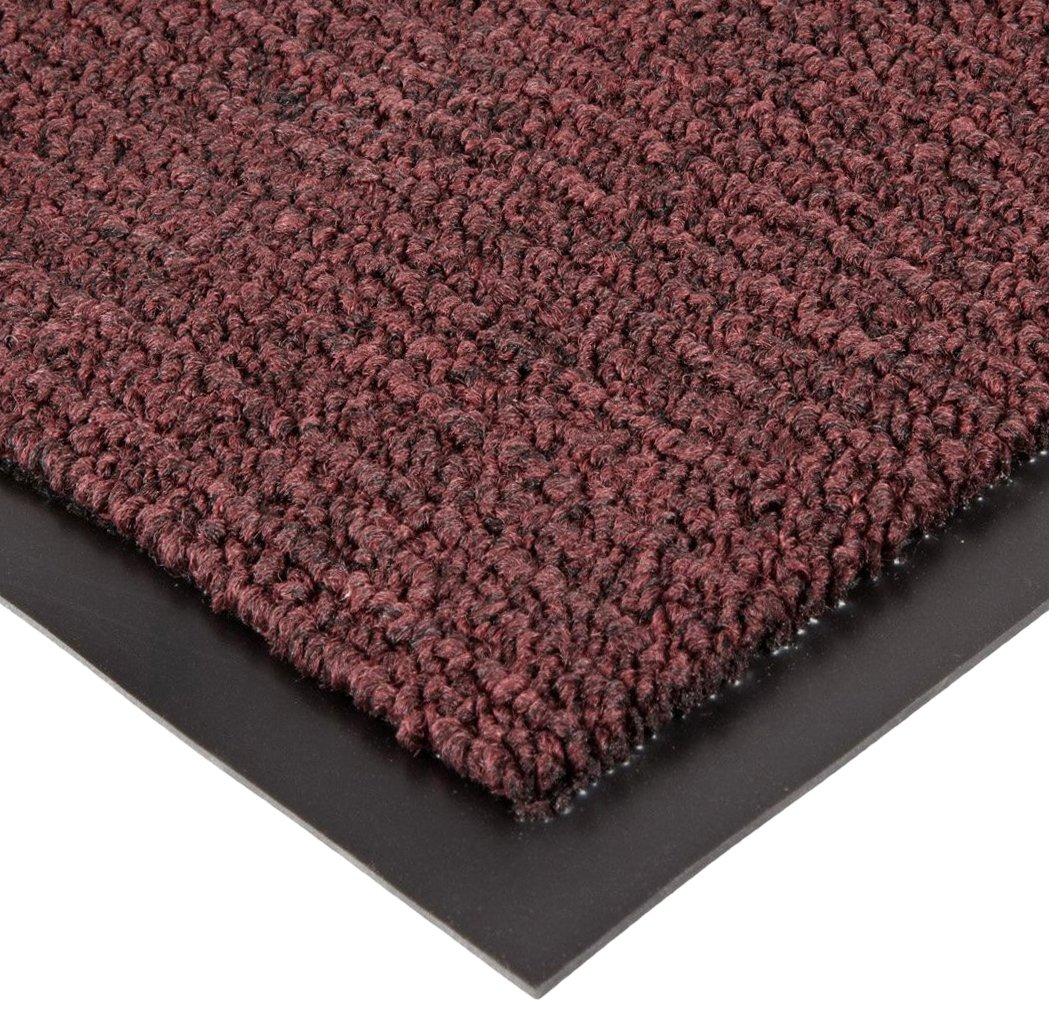 Notrax 141 Ovation Entrance Mat, for Main Entranceways and Heavy Traffic Areas, 4' Width x 6' Length x 5/16'' Thickness, Burgundy by NoTrax