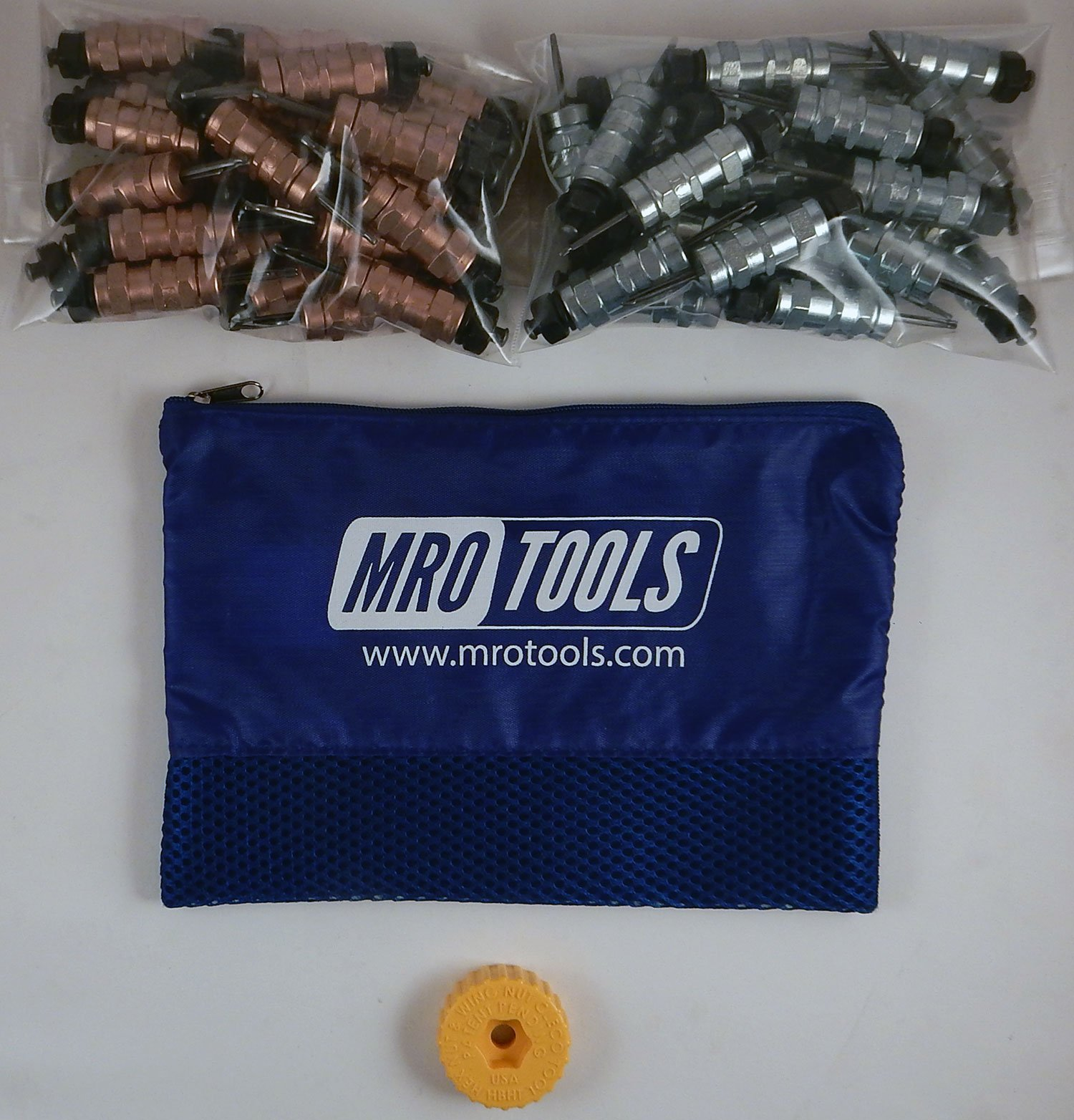 25 1/8 & 25 3/32 Standard Hex-Nut Cleco Fasteners w/ HBHT Tool & Bag (KHN4S50-3) by MRO Tools Cleco Fasteners