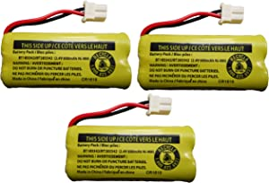 JustGreatDealz Battery BT183342 / BT283342 for Vtech AT&T Cordless Telephones CS6114 CS6419 CS6719 EL52300 CL80111 (3-Pack)