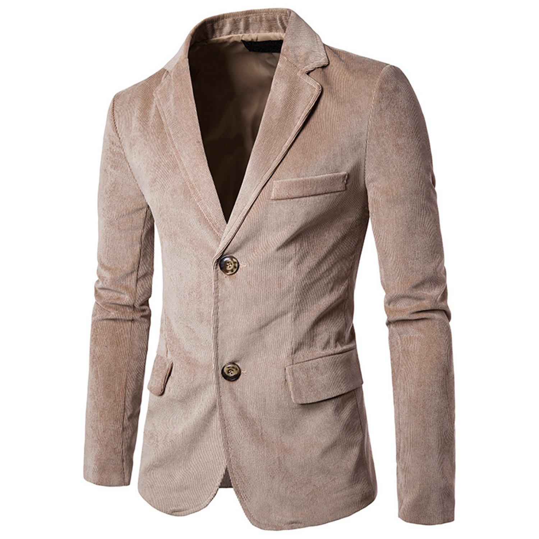 9ed5c2cbe439 Thadensama Men Corduroy Suit Blazer Pattern Slim Fit Fashion New Casual  Autumn Suit Jacket Men Men Blazer Designs Male Clothing Orange Xxl at  Amazon Men's ...