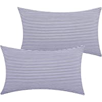 Lewondr Checkered Throw Pillow Case, 2 Pack Breathable Wrinkle-Resistant Linen Throw Pillow Protector Plaid Cushion Cover Home Decor