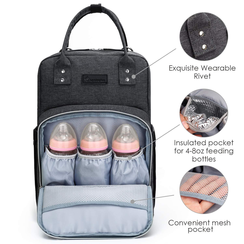 Amazon.com: Mochila para pañales Upsimples para mamá, bolsa ...