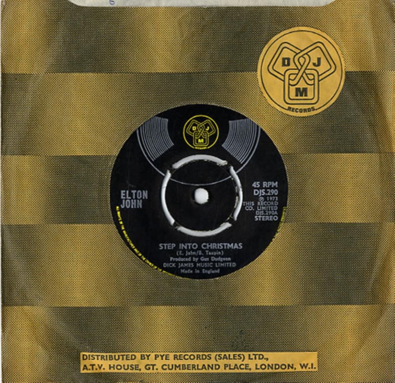 Elton John Step Into Christmas.Elton John Step Into Christmas Translucent Vinyl