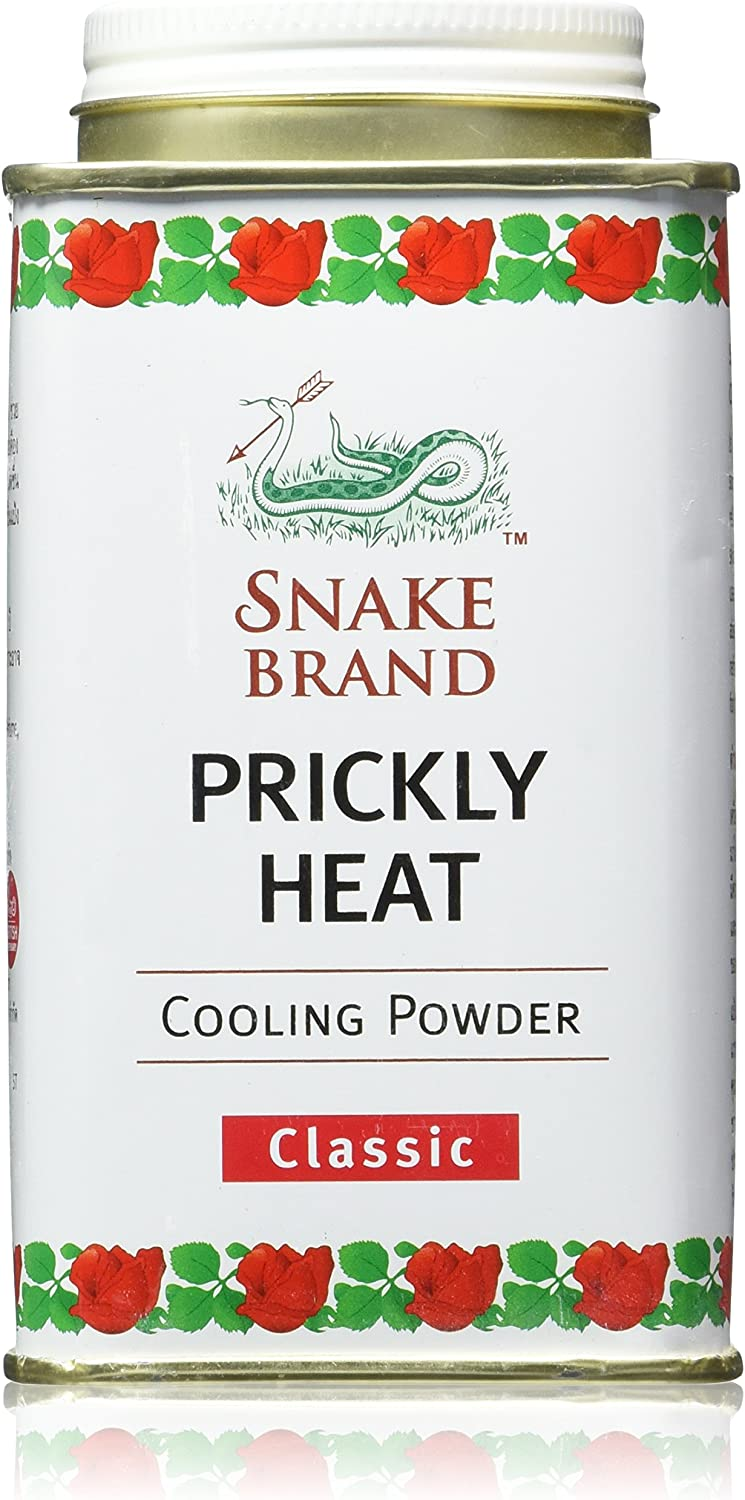 Snake Brand Prickly Heat Cooling Powder, 2-pack (Classic, 150g)