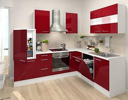 respekta Calidad L 260 x 200 cm con 110 cm/Mueble de Cocina Rojo Burdeos HG APL Blanco RP260WBOCOS Blanco: Amazon.es: Hogar
